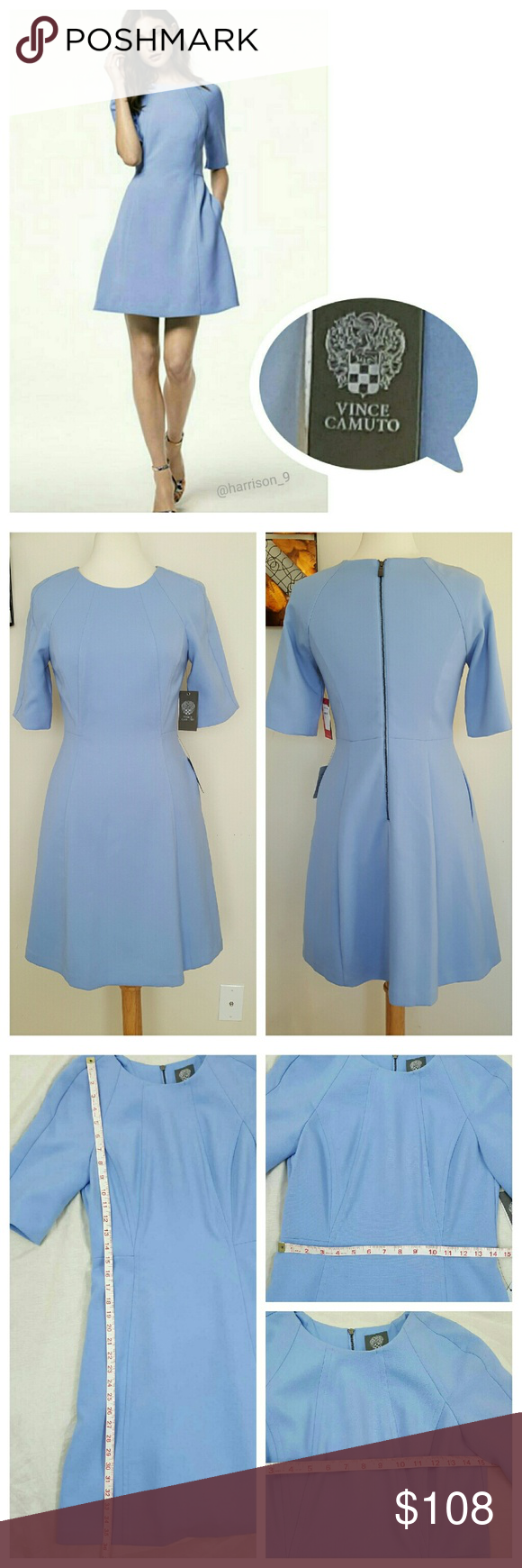 Vince Camuto Nwt A Line Seamed Dress 6 Versatile Dresses Clothes Design Fashion [ 1740 x 580 Pixel ]
