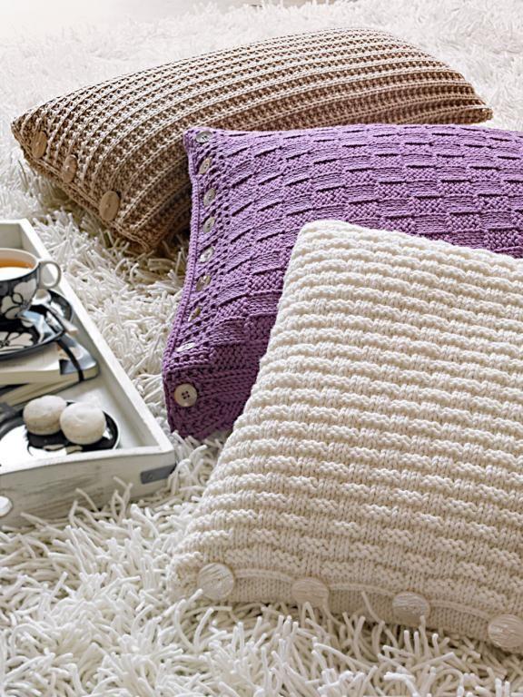 Strick-Deko aus Wolle | Strickanleitungen, Kissen und Einfach