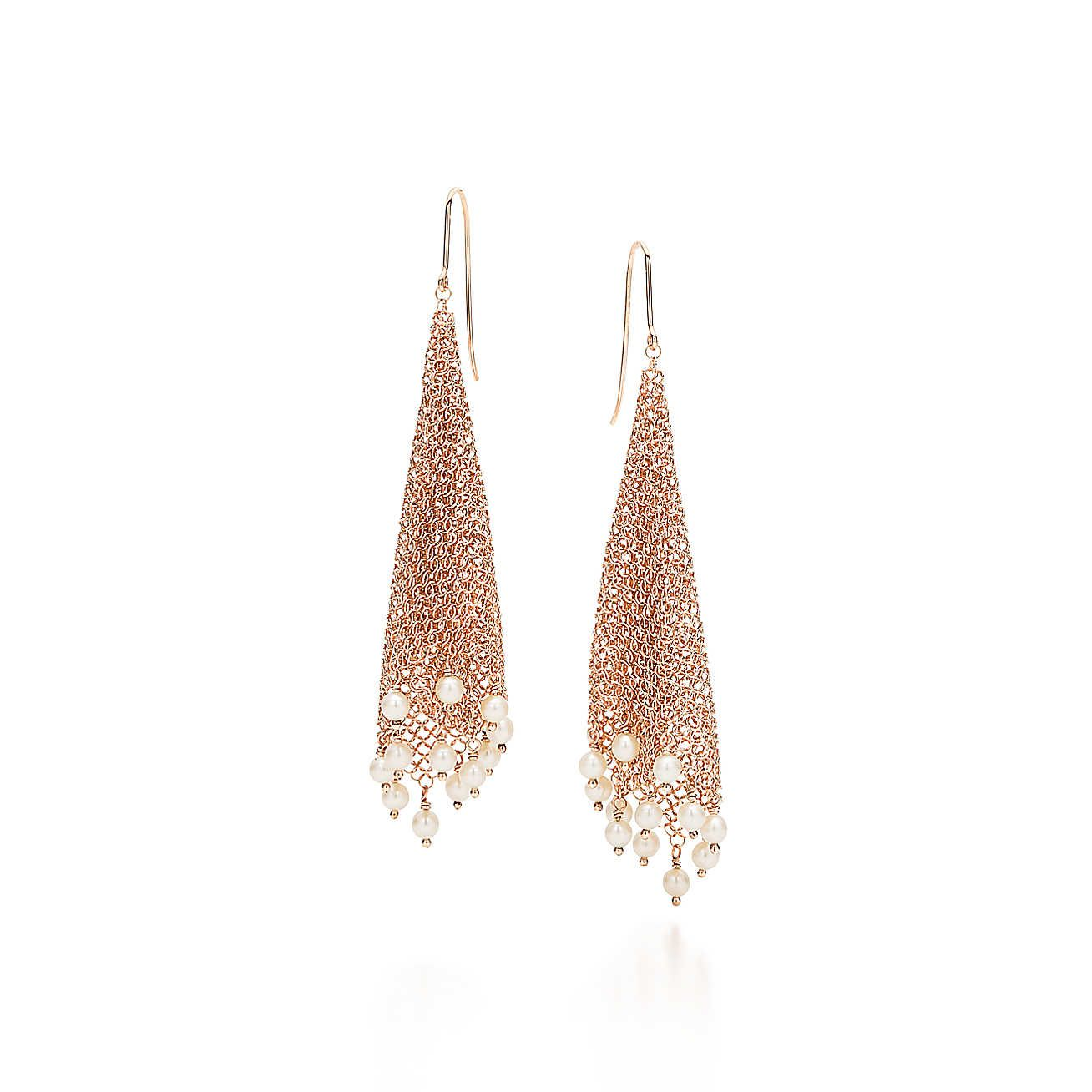 04c98a7fcdf505 Elsa Peretti®:Mesh Fringe Earrings | Brunch at Tiffany's | Earrings ...