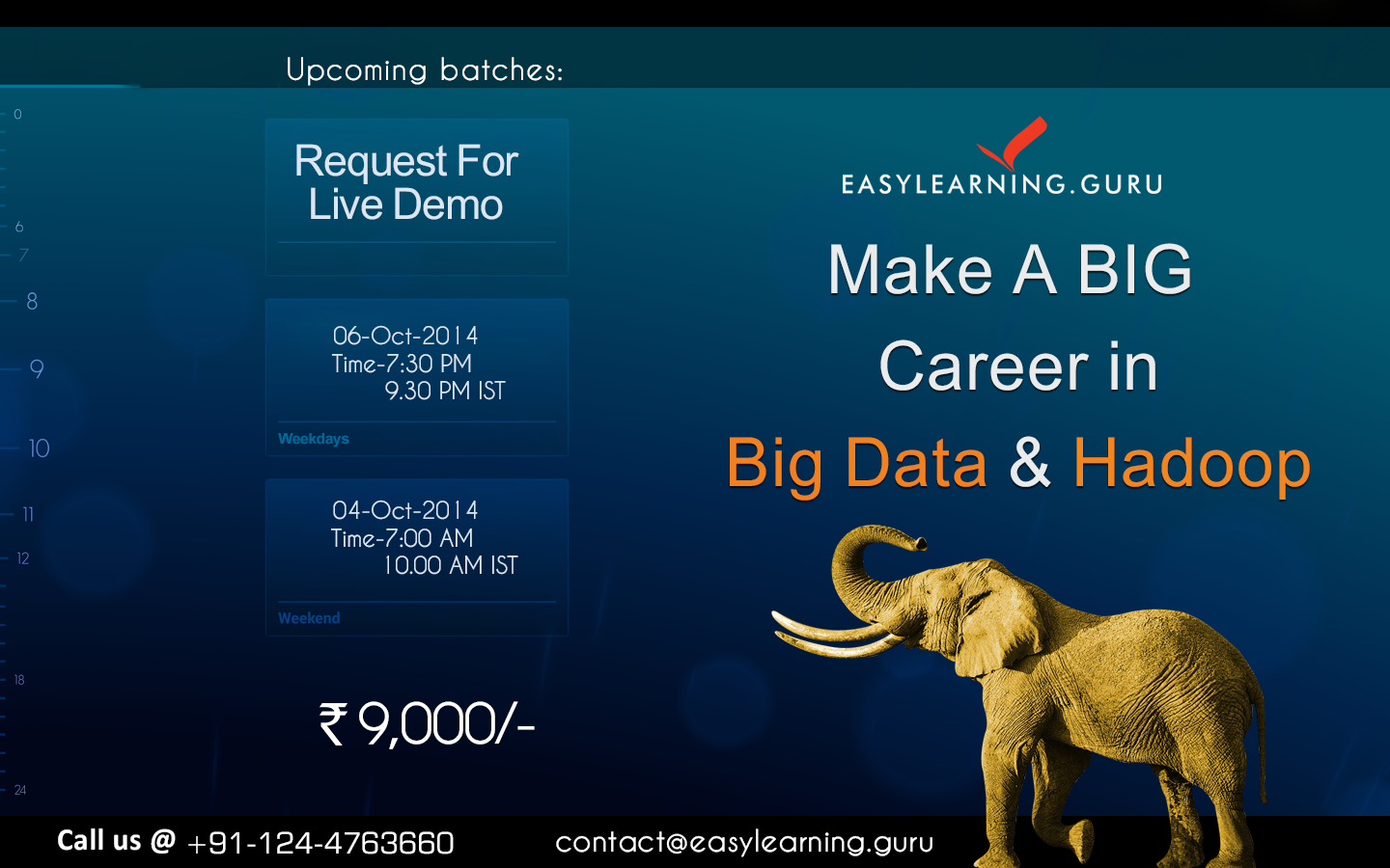 EasyLearning Guru Provides Instructor Led Online class On #BIGDATA & #HADOOP  http://goo.gl/KfKZnz