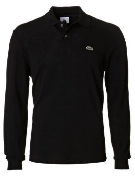 Langærmet polo t-shirt. Str. M