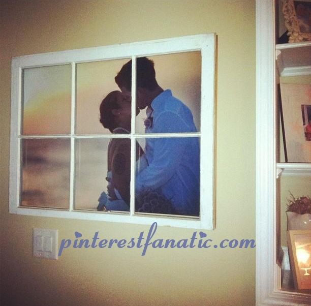 DIY ::: Create a Beautiful Piece of Art by repurposing a window pane with your favorite photo. {featured pin from pinterestfanatic.com}