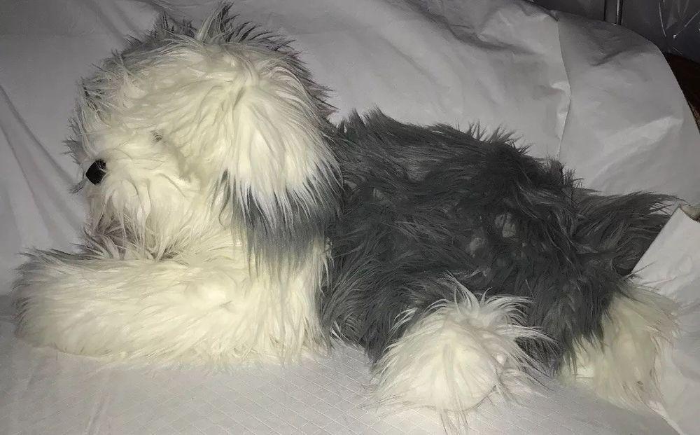 F A O Schwarz 5th Avenue Old English Sheepdog Plush Stuffed Dog 22 Gray White Old English Sheepdog English Sheepdog Sheepdog