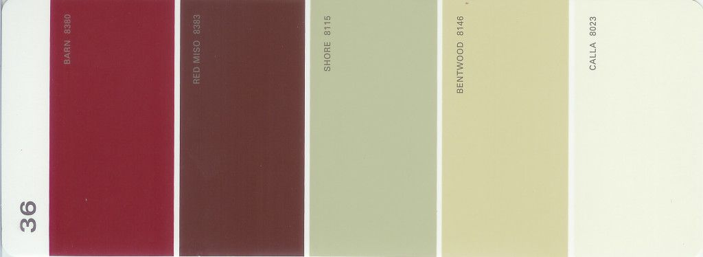 Martha Stewart Paint 5 Color Palette Card 36