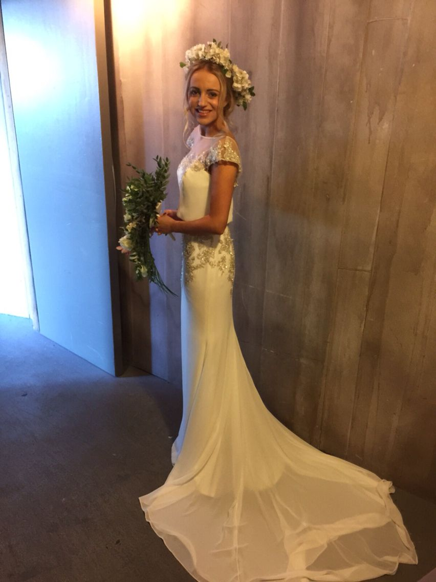 Gina wearing harlem by blue by enzoani my stunning brides gina wearing harlem by blue by enzoani ombrellifo Choice Image
