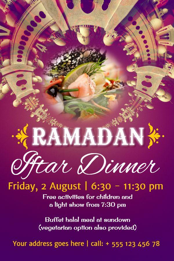 Ramadan Iftar Dinner Poster Design Click To Customize