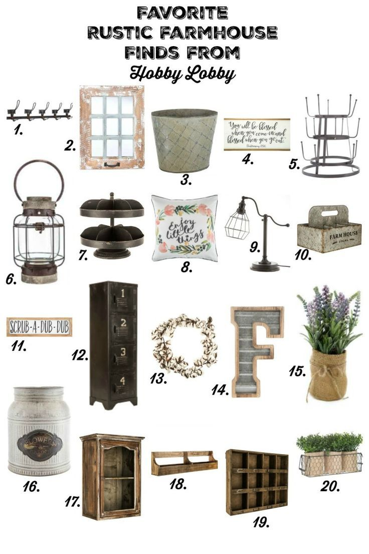 My Favorite Rustic Farmhouse Finds At Hobby Lobby