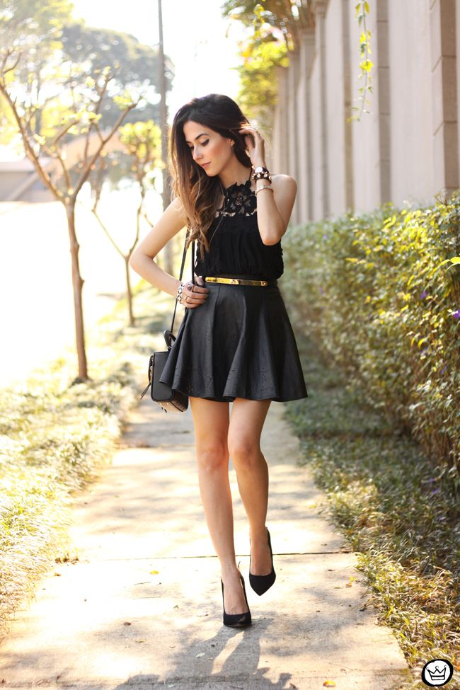 51d6ed599a1 FashionCoolture - 03.09.2015 look du jour black Moikana lace top leather  skirt girly outfit (6)