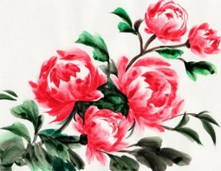 small peony tattoo - lighter pink would be perfect