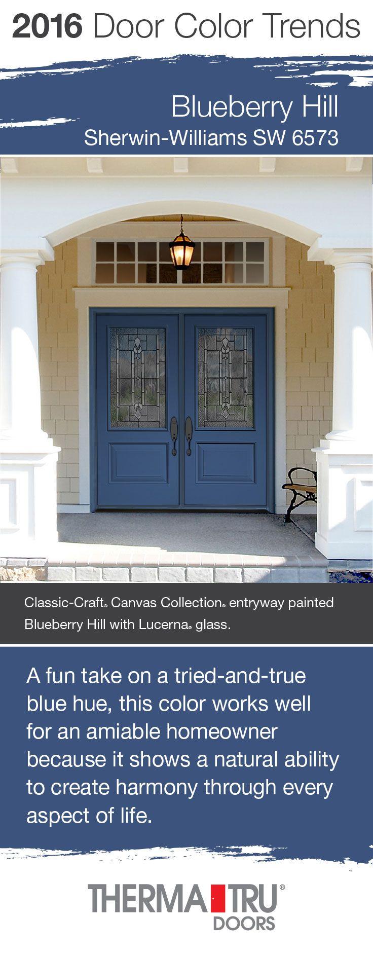 2016 Door Color Trends Front Doors Blueberry And Doors