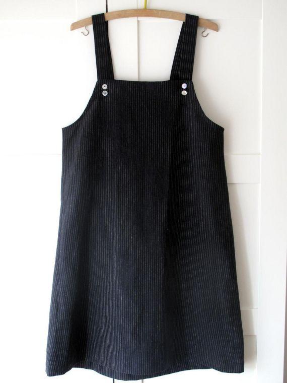Vestido/delantal estilo minimal japonés en li / mamma.190 - Artesanio