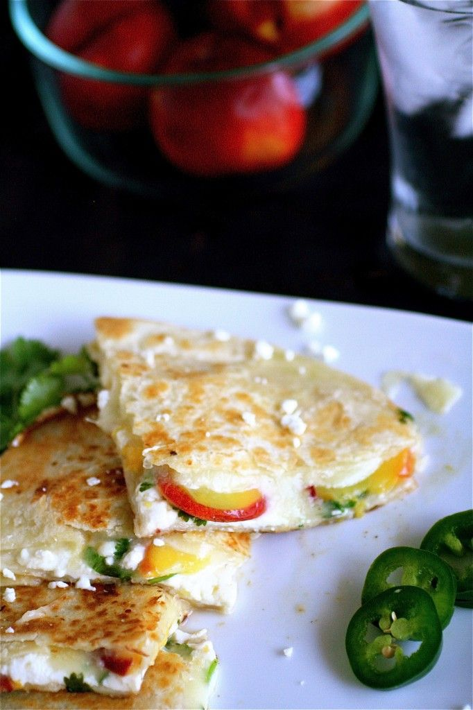 summer fruit quesadillas- really yummy! used corn tortillas