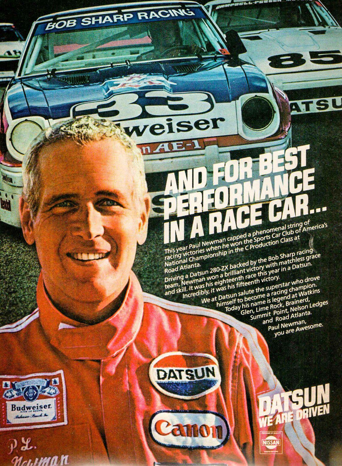 paul newman u0026 39 s datsun race car is for sale