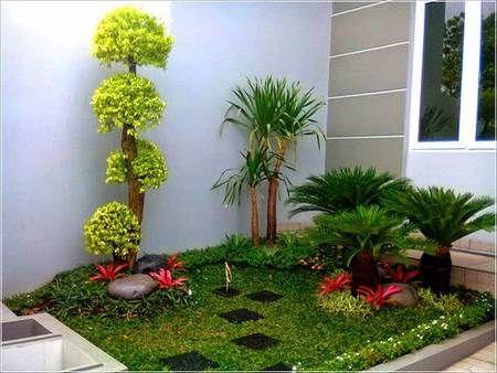Ideas para decorar el patio frontal de tu hogar c sped for Diseno de jardines para el hogar
