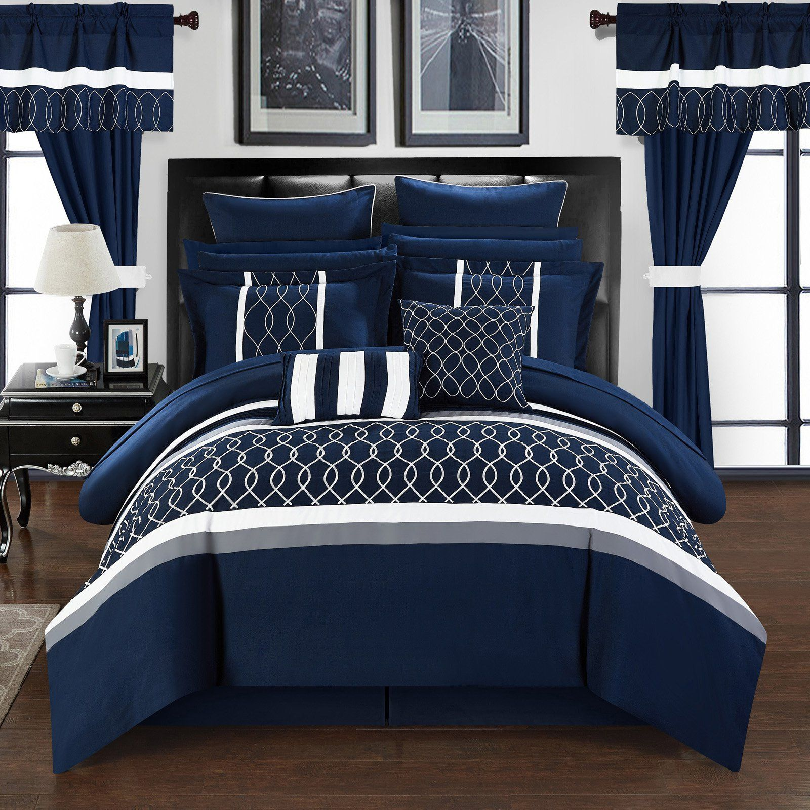 Lance 24-Piece Bed In a Bag Queen Comforter Set by Chic Home ...