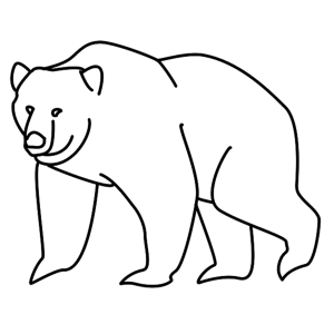 How To Draw A Black Bear Drawings Black Bear Creative Art