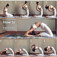 Kapotasana ✰ Yoga-Herb✰AbWorkoutPlans - Yoga & Fitness - #amp #Fitness #Kapotasana #Yoga #YogaHerbAb...