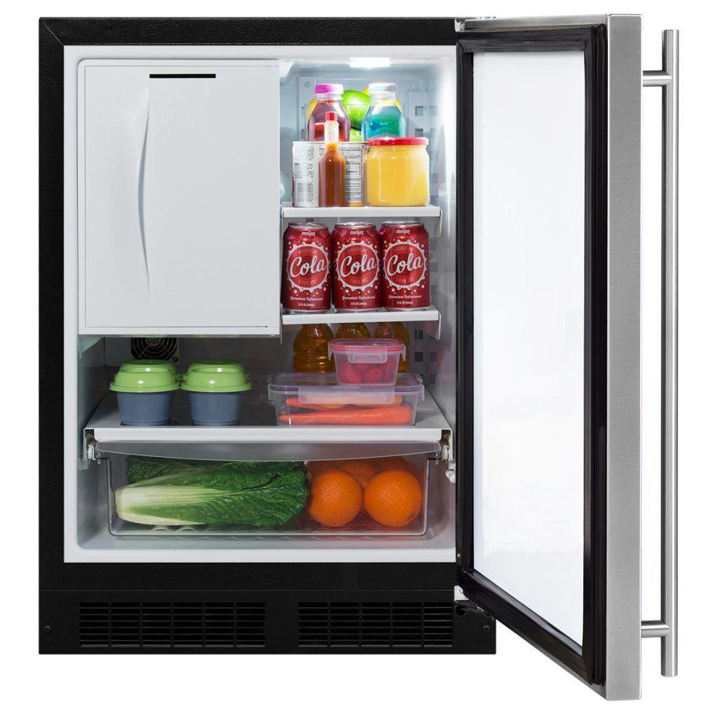 "Marvel 24"" Refrigerator Freezer with Drawer StorageSolid"