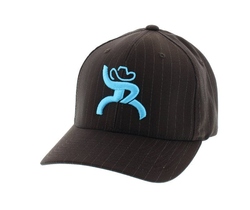 HOOey Brown Bull Pin Cap with Turquoise Blue Roughy Logo - Hats - Women s 07e3e902cf7