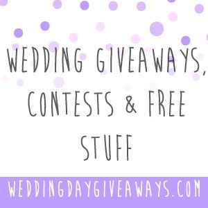 Want Free Stuff For Your Wedding Wedding Day Giveaways Is Website Is A Directory Of Tons Of Free Wedding Wedding Sweepstakes Wedding Freebies Wedding Contests