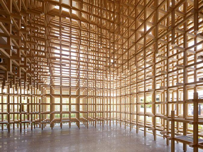 Wood architecture  A Fresh Take on Wood: Architect Kengo Kuma Changes the Game ...