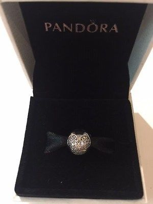 7b496fcce Pandora Mickey Pave Clip 791449CZ Authentic Charm New Hinged Box 925 Silver  - http:/