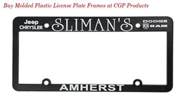 Buy Molded Plastic License Plate Frames online at CGP Products an ...