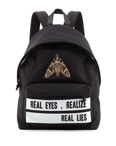 c9acc9182bc GIVENCHY Real Eyes Realize Real Lies Nylon Backpack.  givenchy  bags   canvas  nylon  backpacks  cotton