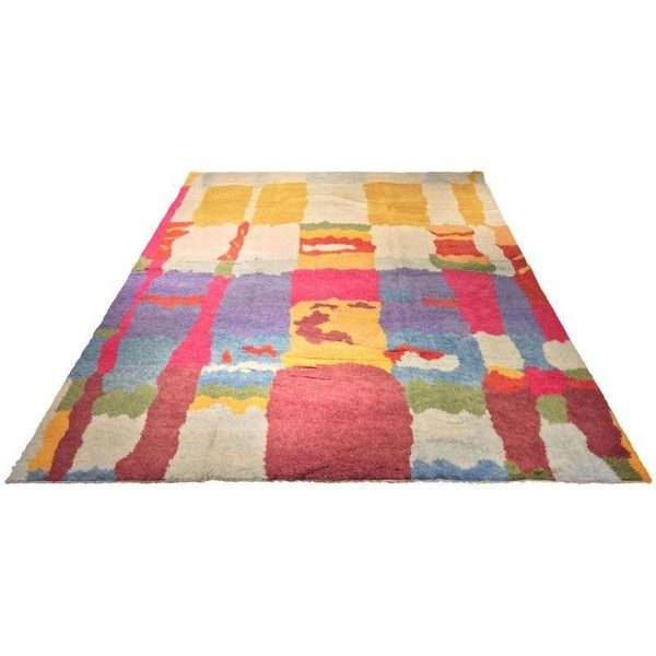"Turkish Tulu Multicolor Rug - 9'7"" x 13' ($4,000) ❤ liked on Polyvore featuring home, rugs, colorful turkish rugs, colorful rugs, multi color area rug, colorful area rugs and multicolor rug"