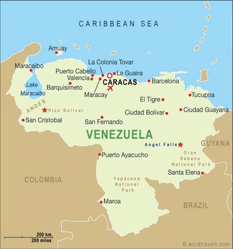 Google Image Result For Httpwwwwordtravelscomimagesmap - Map of venezuela south america