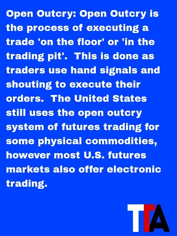 Futures Trading Definition Open Outcry Open Outcry Is The