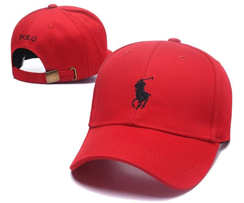 5f563ba4c8f Men s   Women s Polo Ralph Lauren Small Pony Logo Golf Dad Hat - Red   Black  (Copy Ori)
