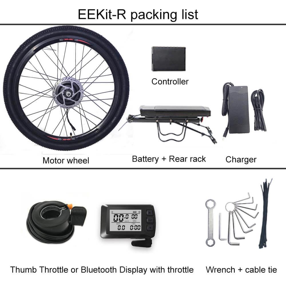 Eekit R Electric Bike Conversion Kit Front Wheel With Rear Battery Electric Bike Conversion Electric Bike Best Electric Bikes