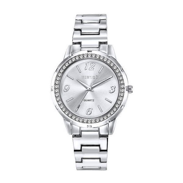 Mestige Women's 34mm The Orwell Watch ($22) ❤ liked on Polyvore featuring jewelry, watches, silver jewellery, silver jewelry and silver watches