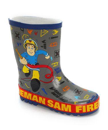 e130b6d3a Grey   Blue Fireman Sam Wellies by William Lamb on  zulily