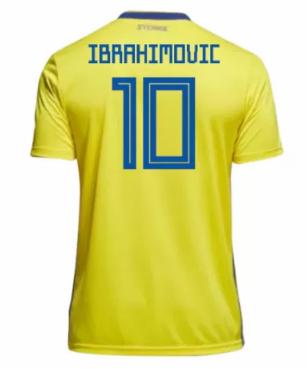 a55d07f5b Sweden Jersey 2018-19 Home Soccer Shirt  10 Ibrahimovic. Sweden Jersey 2018-19  Home Soccer Shirt  10 Ibrahimovic Sweden World Cup ...