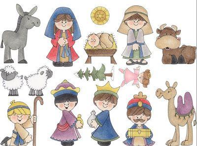 Belen Infantil Recortable De 16 Figuras Navidenas Figuras Navidenas Belenes Decoracion Navidad Manualidades