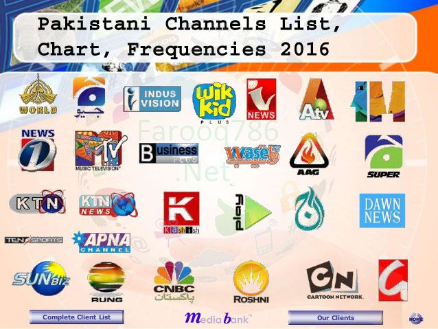Channels Frequency Update All Pakistani Channel Frequency List 2016