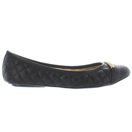 Wanted Womens Cathy Flat Black 7 M