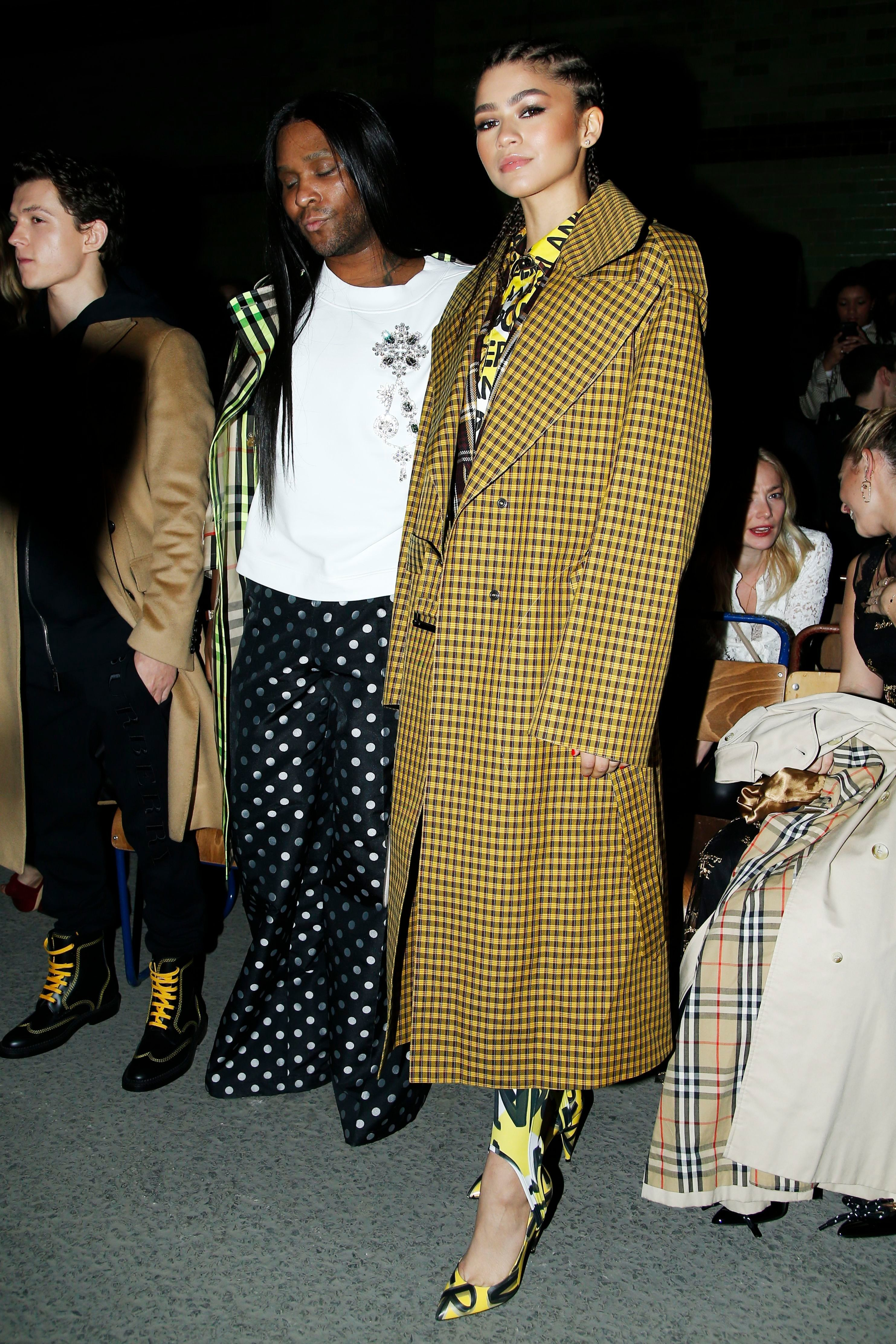 Zendaya and tom holland the burberry fashion show during the london fashion week in london - Burberry fashion show ...