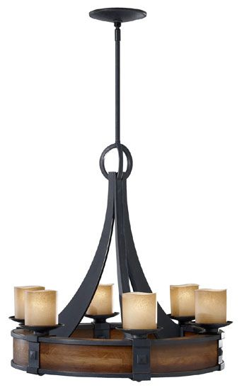 Feiss F25916aw Madera 6 Light Craftsman Chandelier Mf Office