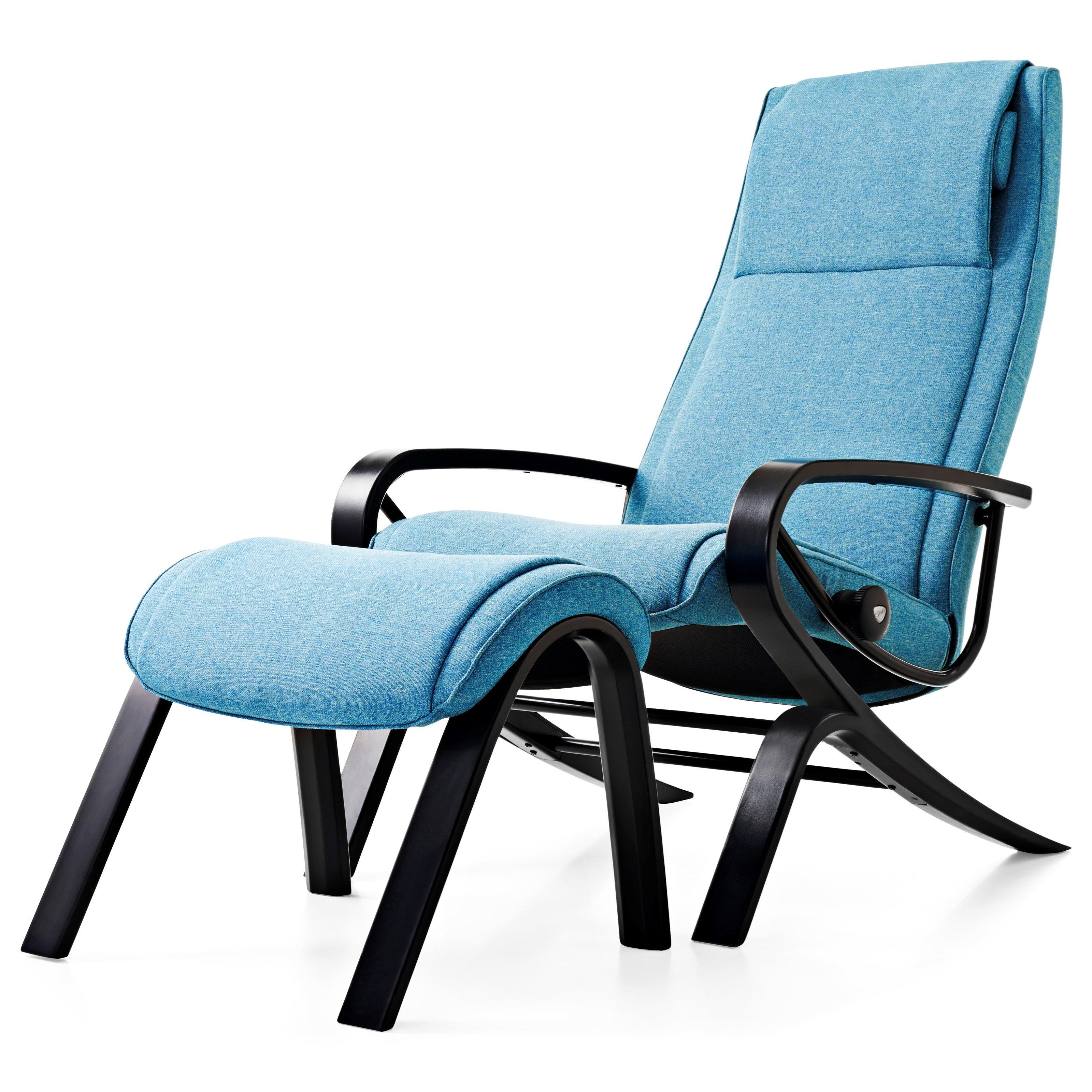 stressless you james reclining chair and ottoman karma aqua w wood base by stressless by. Black Bedroom Furniture Sets. Home Design Ideas