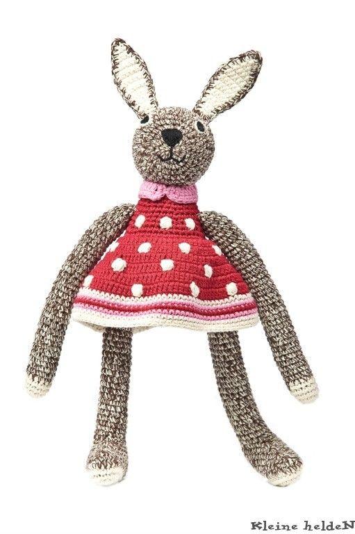 Anne Claire Petit Konijn Met Jurkje Rood Bunny Pinterest