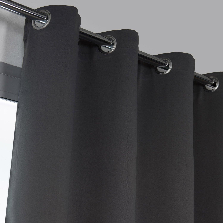 Rideau Obscurcissant Elios Gris Moyen L 135 X H 240 Cm Tapis Noir Et Blanc Tapis Noir Et Rideaux