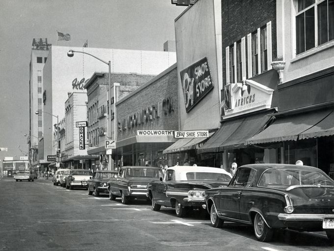 1964 Downtown Appleton looking west on College Avenue