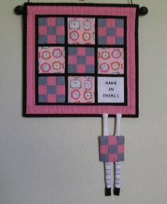 Hang In There Quilted Wall Hangings Patterns Wall Quilt Patterns Mini Quilt Patterns
