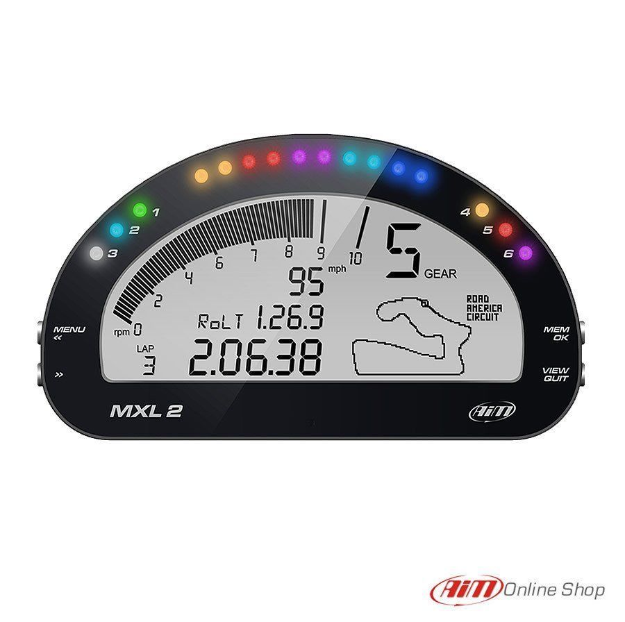 Details about Aim MXL2 Dash Car / Motorcycle Racing Dash
