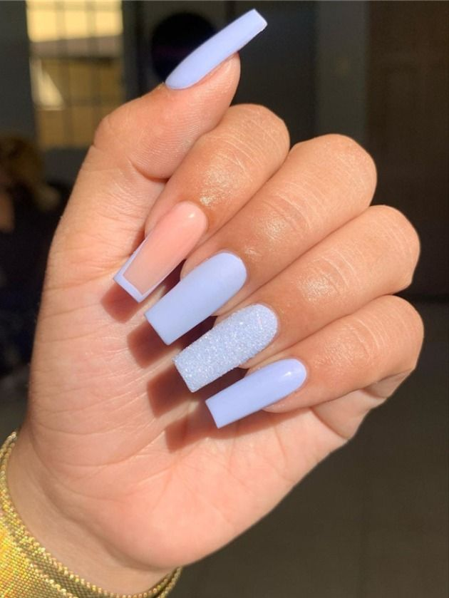Pin By Alyssapoppingg On Nails In 2020 Square Acrylic Nails Fire Nails Lilac Nails