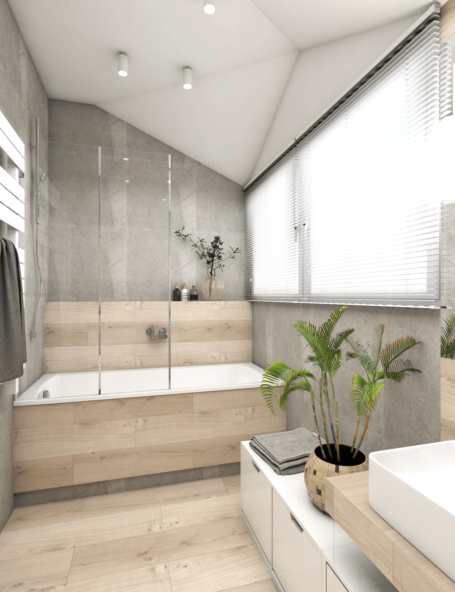 Lazienki W Domu W Jozefowie Oroconcept Pracowania Projektowania Wnetrz Bathroom Interior Bathroom Design Small Bathroom Makeover