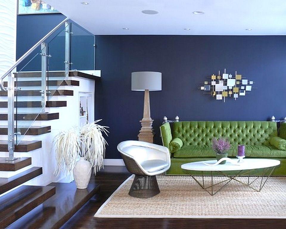 Contoh Warna Cat Ruang Tamu Berwarna Biru Dongker